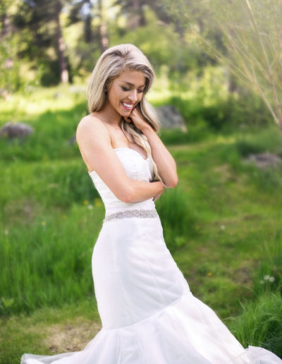 A classic wedding gown in a mermaid style